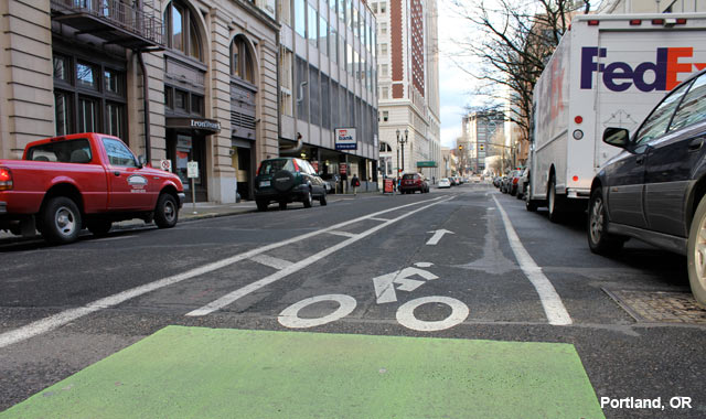 Buffered Bike Lane - Portland, OR