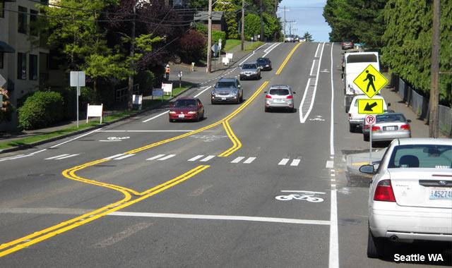 Buffered Bike Lane - Seattle, WA