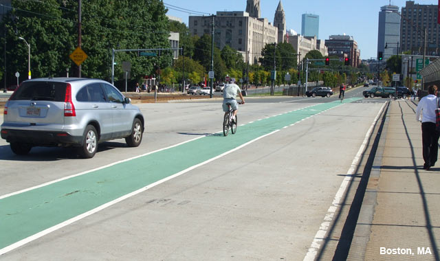 Colored Bike Lane - Boston, MA