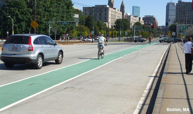 Colored Bike Lane - Boston, MA