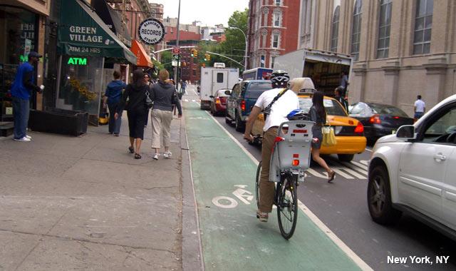 Left-Side Bike Lane - New York City, NY