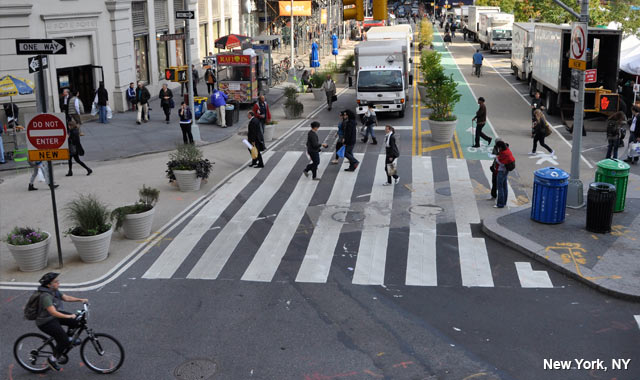 Contra-Flow Bike Lane - New York City, NY