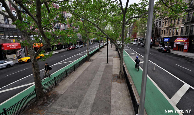 Colored Cycle Track - New York City, NY
