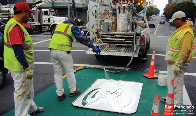 Curb Paint Application - San Francisco, CA