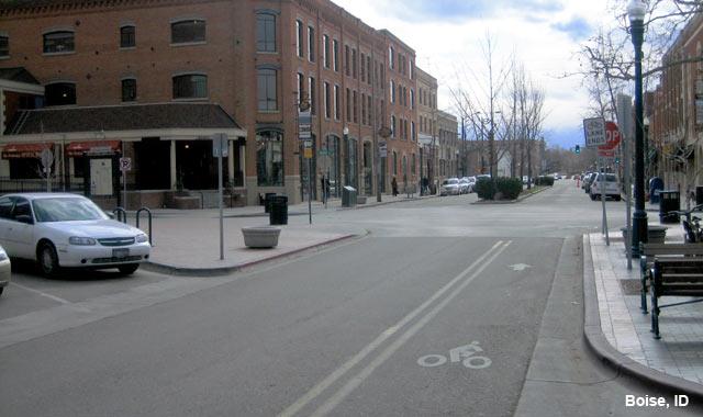 Contra-Flow Bike Lane - Boise, ID