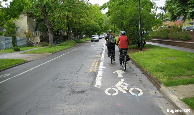Contra-Flow Bike Lane - Eugene, OR