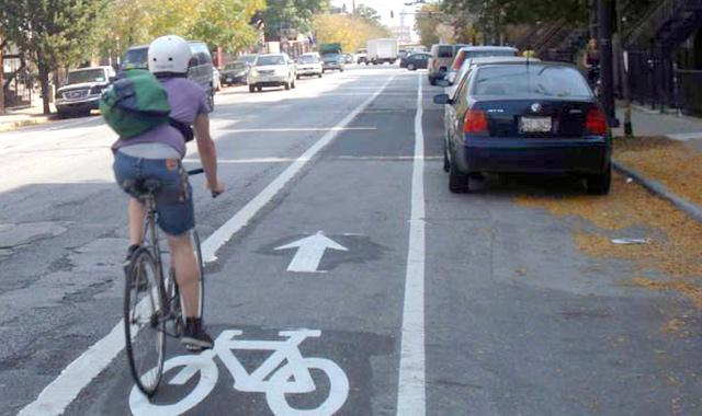 Bike Lane  - Chicago, ILPhoto: CDOT