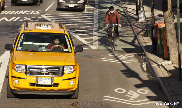 Shared Lane Markings - New York City, NY