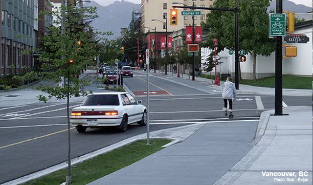 Raised Cycle Track - Vancouver, BC