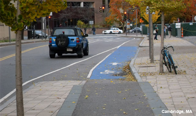 Cycle Track Intersection Approach - Cambridge, MA