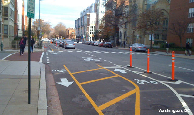 Cycle Track Intersection Approach - Washington, DC