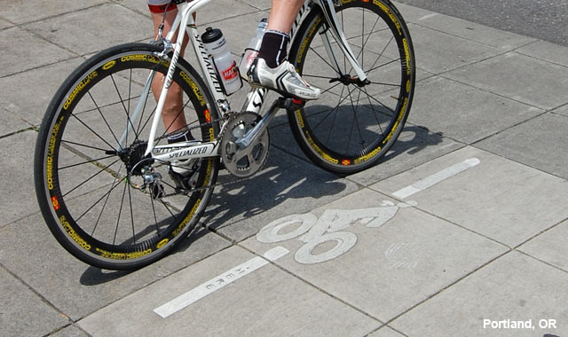 Bicycle Detector Pavement Marking - Portland, OR