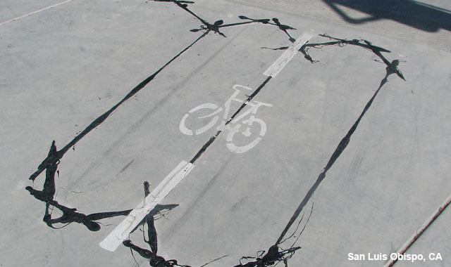 Bicycle Detector Pavement Marking - San Luis Obispo, CA