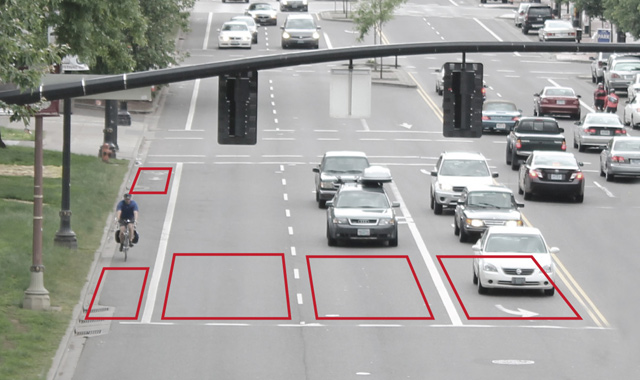 Simulated Video Detection Target Areas
