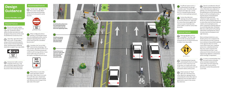 Contra Flow Bike Lanes National Association Of City Transportation Officials