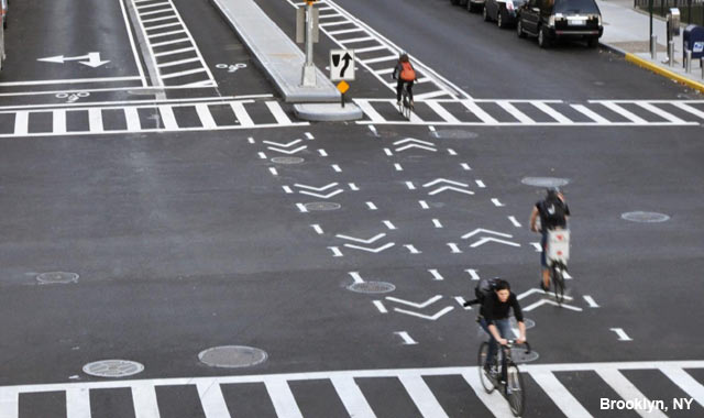 Intersection Crossing Markings - New York City, NY