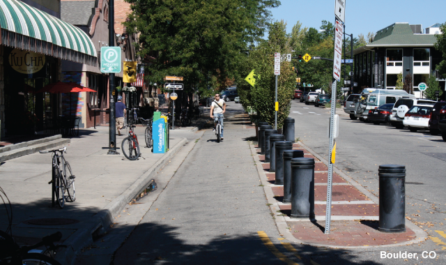 One Way Protected Cycle Track - Boulder, CO