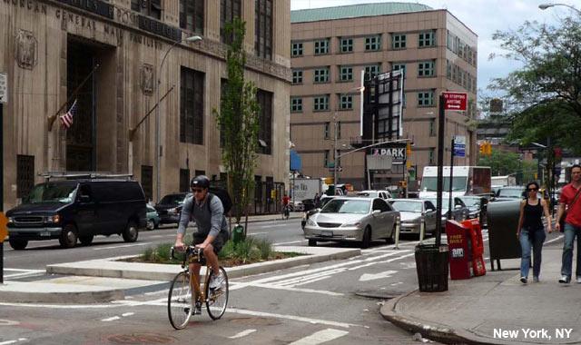 One Way Protected Cycle Track - New York City, NY