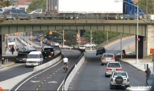 Raised Cycle Track - New York City, NY
