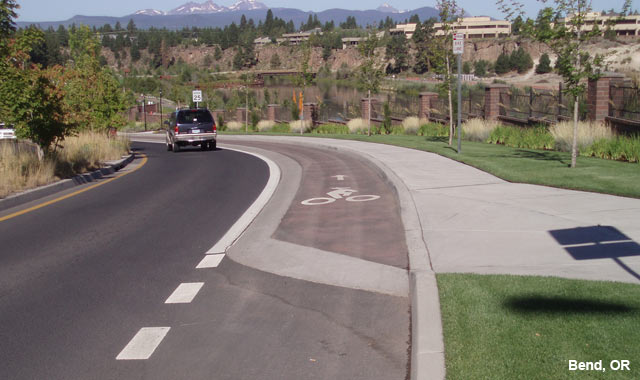 Raised Cycle Track - Bend, OR
