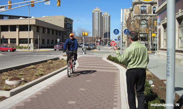 Raised Cycle Track - Indianapolis, IN