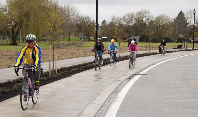 Raised Cycle Track - Hillsboro, ORPhoto: Will Vanlue