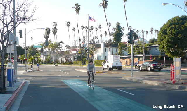 Shared Lane Markings - Long Beach, CA