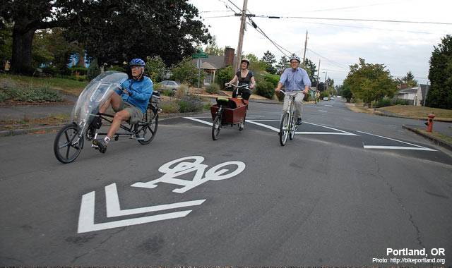 Shared Lane Markings - Portland, ORPhoto: www.bikeportland.org