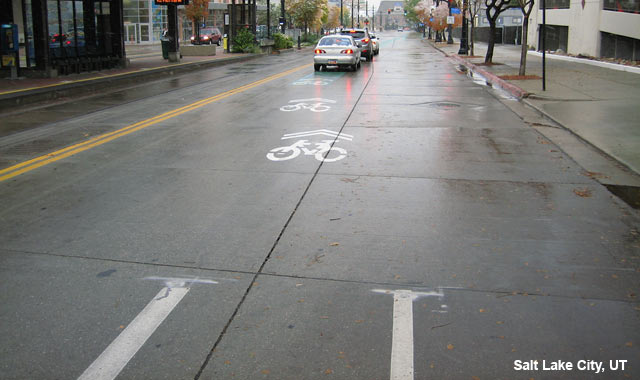 Shared Lane Markings - Salt Lake City, UT