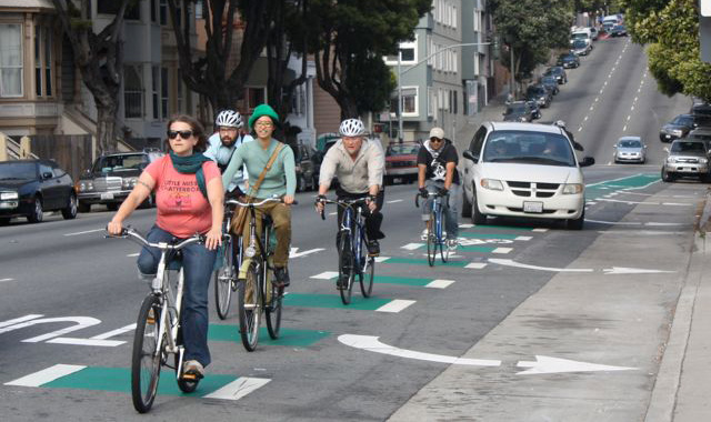Through Bike Lane - San Francisco, CAPhoto: sfstreetsblog