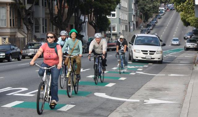 Through Bike Lane - San Francisco, CAPhoto: sfstreetsblog