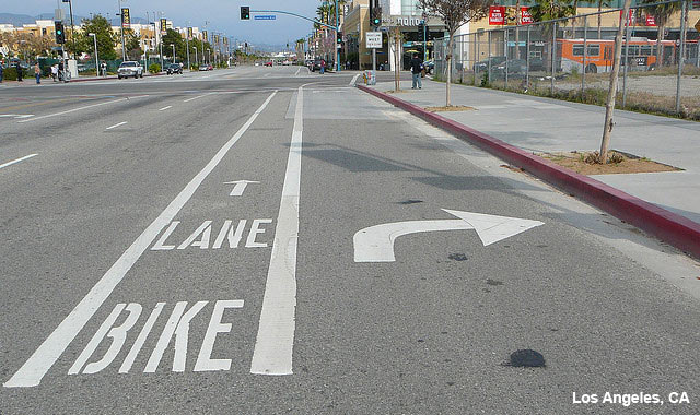 through bike lanes national association of city transportation