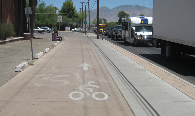 Two Way Cycle Track Connection on Bicycle Boulevard - Tucson, AZ