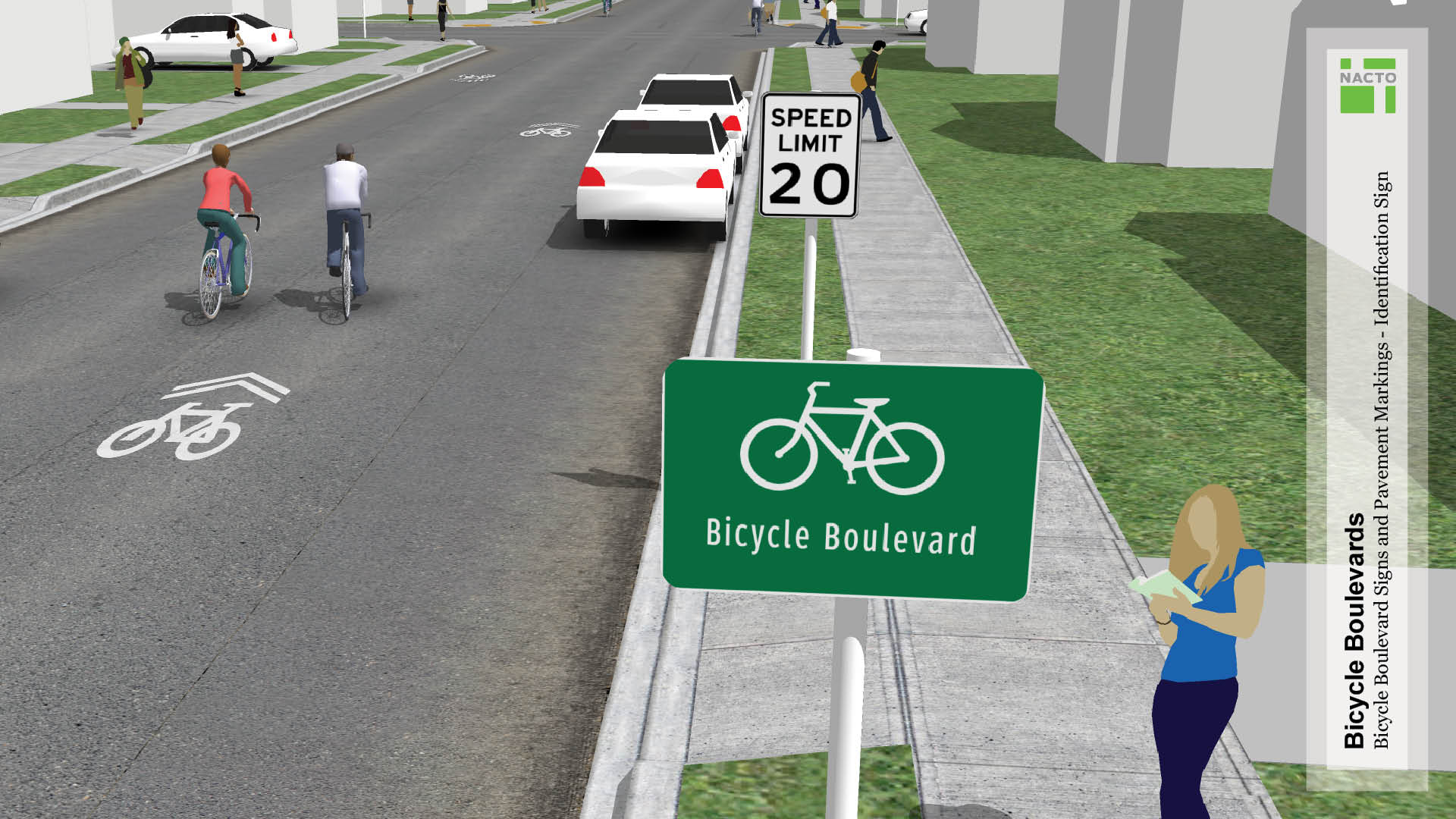 Bicycle boulevard signs and pavement markings national description biocorpaavc