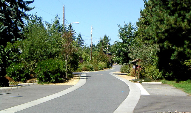 Low Impact Street Design - Seattle, WA This example shows a Street Edge Alternatives demonstration street designed to reduce impervious pavement.