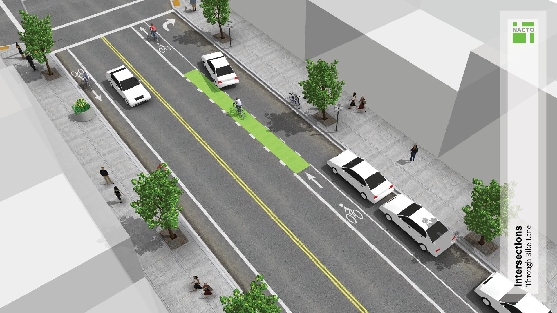 Through Bike Lanes National Association Of City Transportation - Washington dc bike lane map