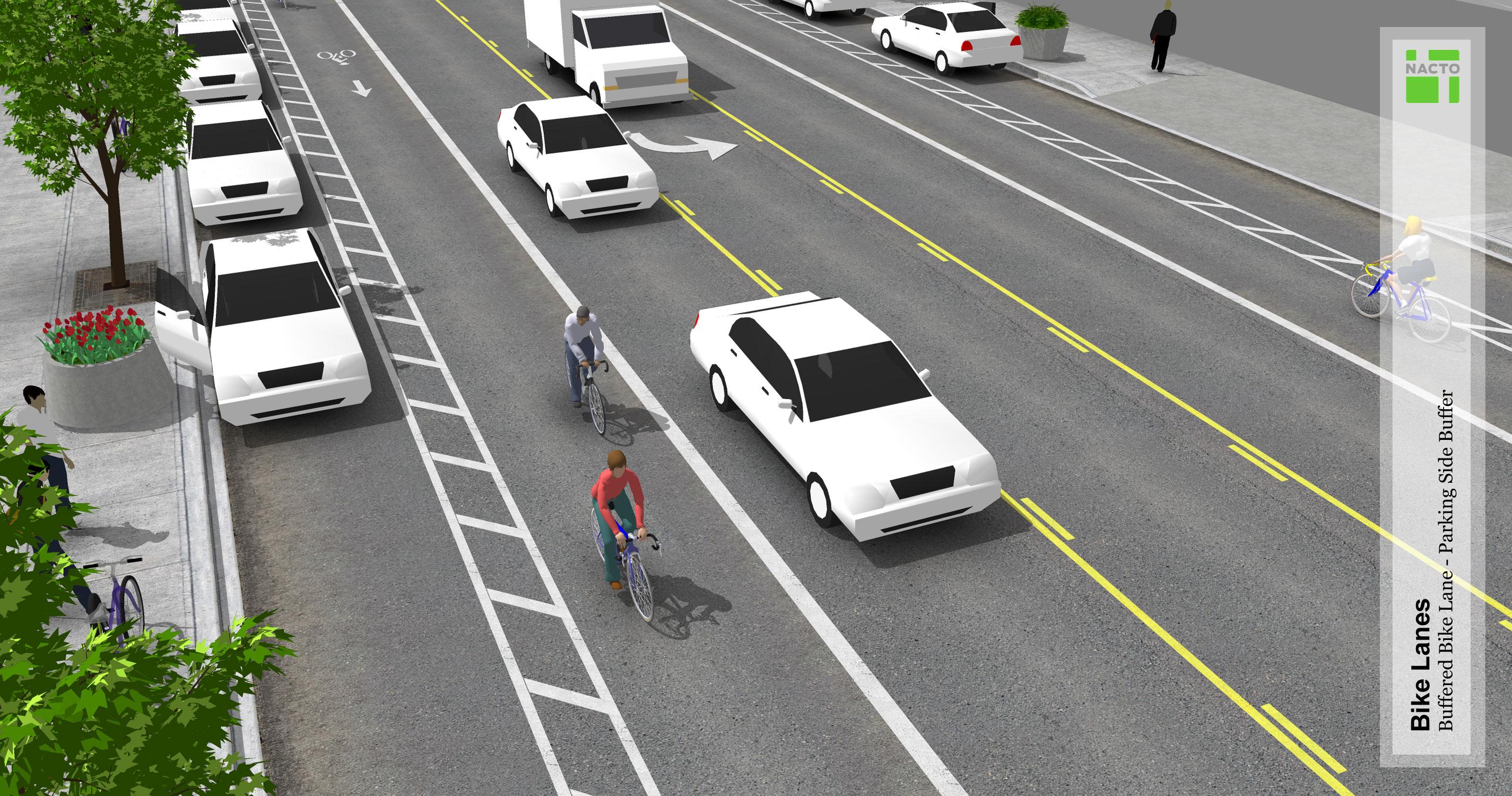 Buffered Bike Lanes - National Association of City Transportation ...
