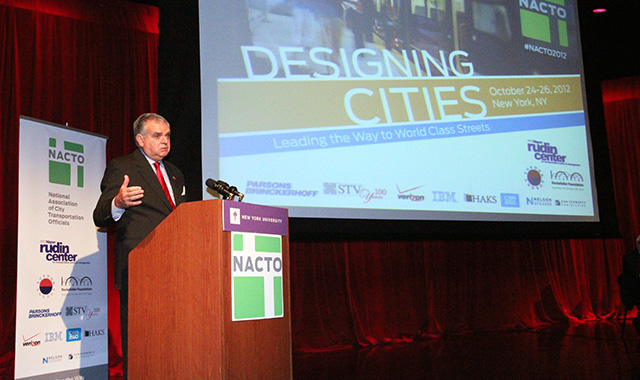 USDOT Secretary Ray LaHood discusses the importance of cities as transportation leaders