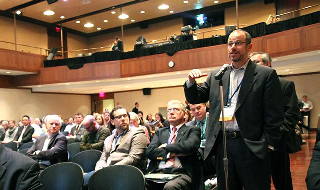 SFMTA Director Ed Reiskin asks a question of Secretary LaHood