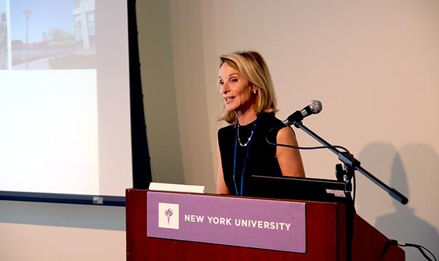 Amanda Burden speaks on the New Garden City Panel.
