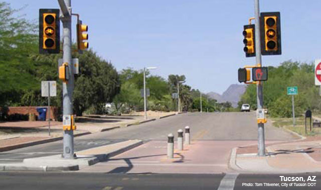 Toucan bicycle signal at third street and country club for Arizona motor vehicle division tucson az 85713