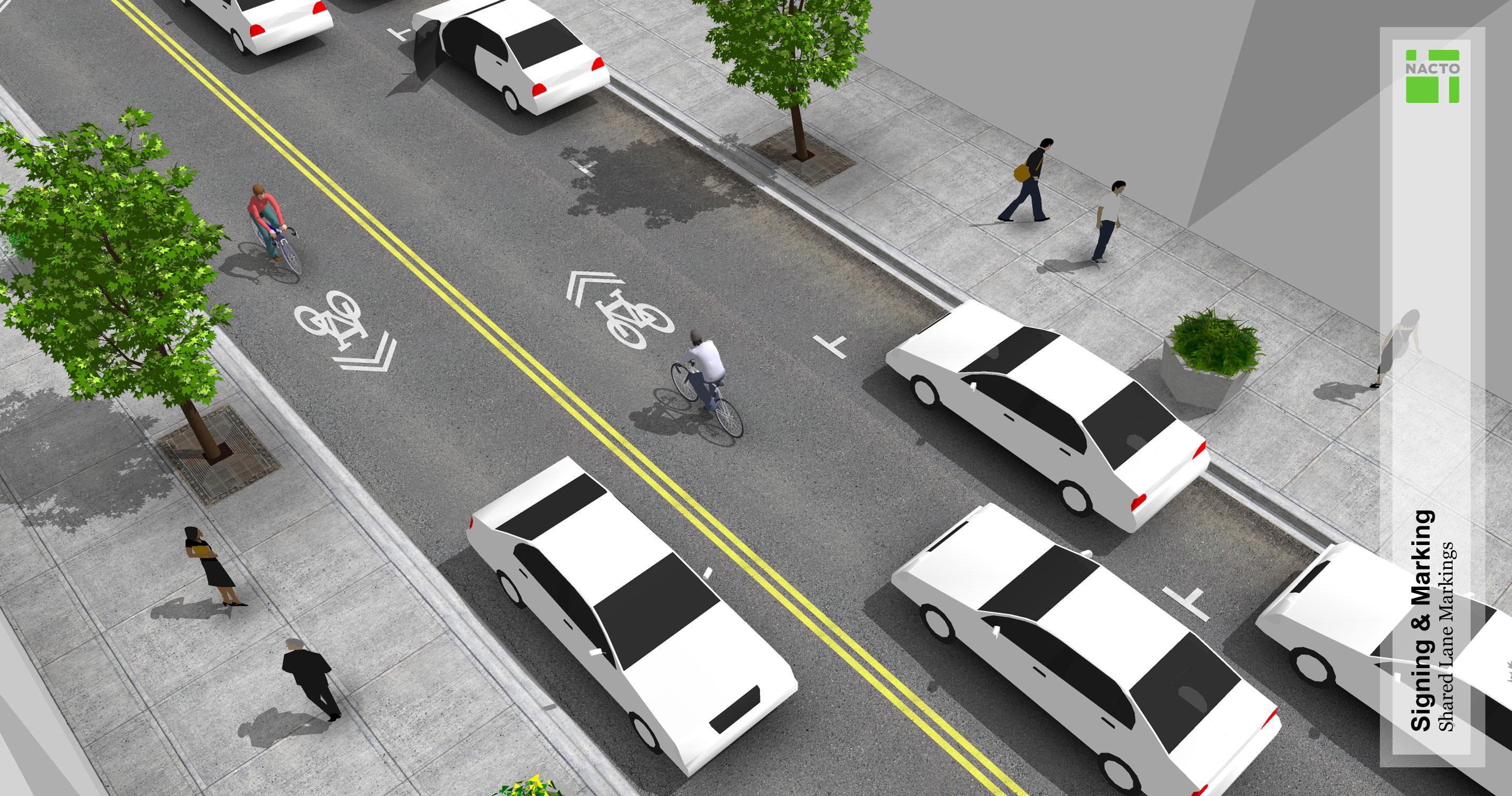 Shared Lane Markings National Association Of City Transportation Officials